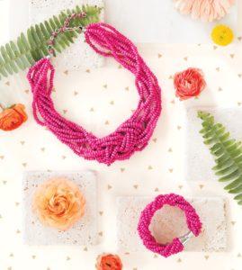 Lily Necklace and Bracelet