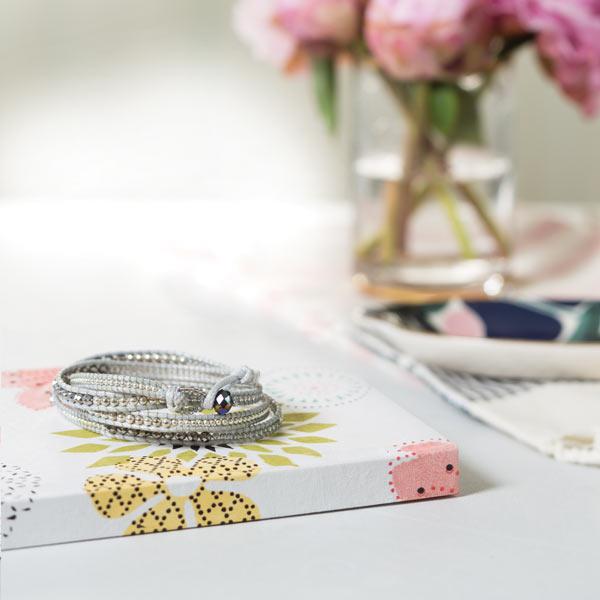 Silver Wrap Bracelet Styled Photo