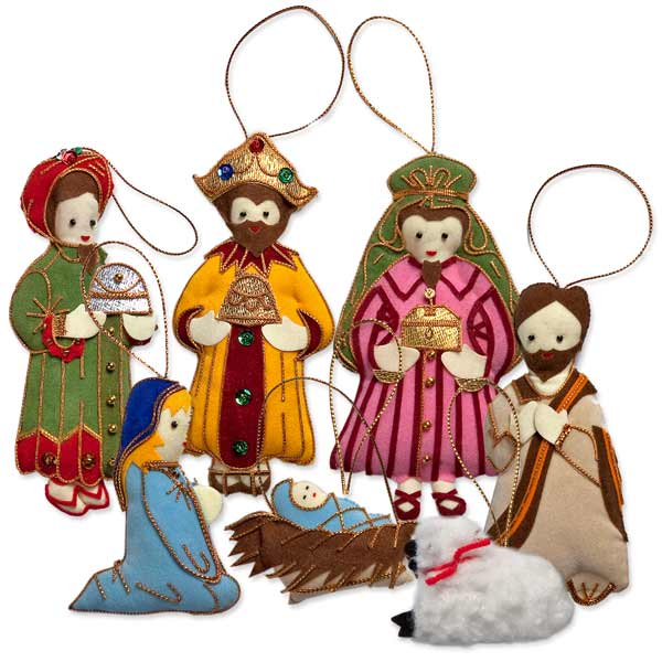 thai nativity ornament set