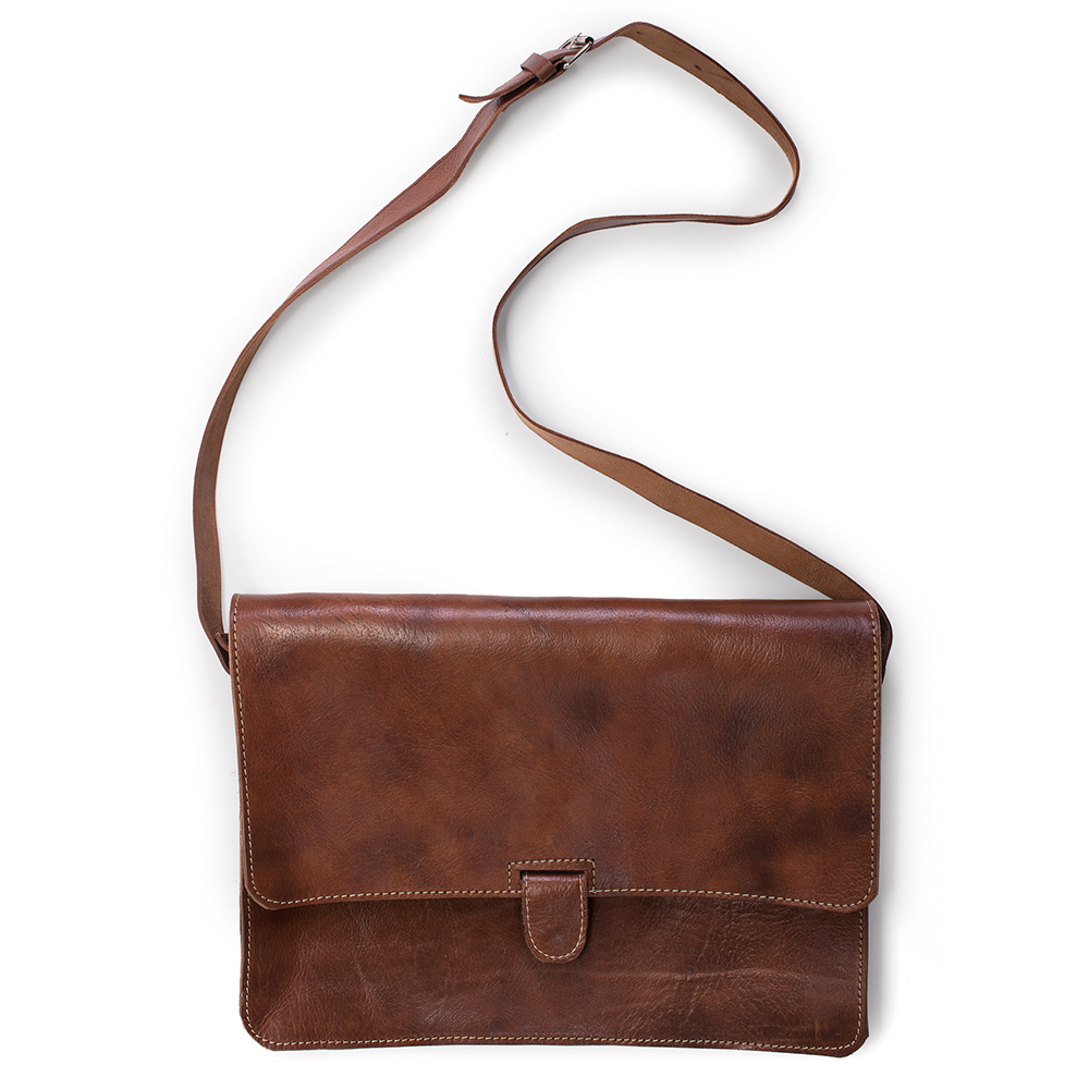 MOROCCAN HAND  STITCHED messenger bag